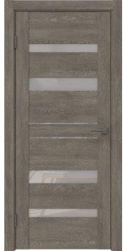 Межкомнатная дверь GM009 (экошпон «серый дуб» / лакобель белый) — 0608