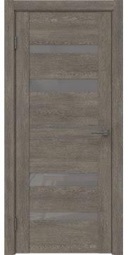 Межкомнатная дверь GM009 (экошпон «серый дуб» / лакобель серый) — 0610