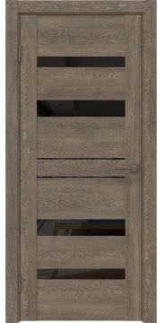 Межкомнатная дверь GM009 (экошпон «дуб антик» / лакобель черный) — 0603