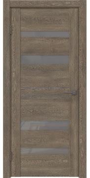 Межкомнатная дверь GM009 (экошпон «дуб антик» / лакобель серый) — 0602