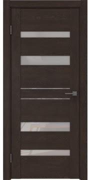 Межкомнатная дверь GM009 (экошпон «дуб шоколад» / лакобель белый) — 0612