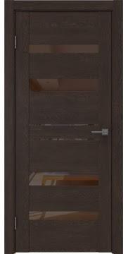 Межкомнатная дверь GM009 (экошпон «дуб шоколад» / лакобель коричневый) — 0613