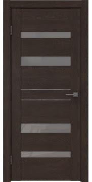 Межкомнатная дверь GM009 (экошпон «дуб шоколад» / лакобель серый) — 0614