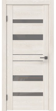 Межкомнатная дверь GM009 (экошпон «белый дуб» / лакобель серый) — 0606