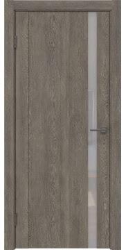 Межкомнатная дверь GM010 (экошпон «серый дуб» / лакобель белый) — 0653