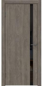 Межкомнатная дверь GM010 (экошпон «серый дуб» / лакобель черный) — 0656