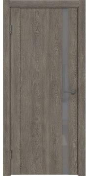 Межкомнатная дверь GM010 (экошпон «серый дуб» / лакобель серый) — 0655