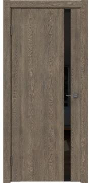 Межкомнатная дверь GM010 (экошпон «дуб антик» / лакобель черный) — 0648