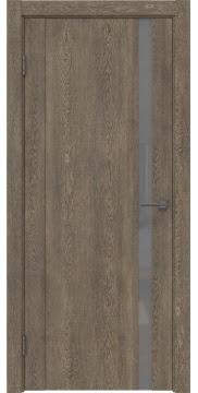 Межкомнатная дверь GM010 (экошпон «дуб антик» / лакобель серый) — 0647
