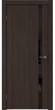 Межкомнатная дверь GM010 (экошпон «дуб шоколад» / лакобель черный) — 0660