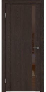 Межкомнатная дверь GM010 (экошпон «дуб шоколад» / лакобель коричневый) — 0658
