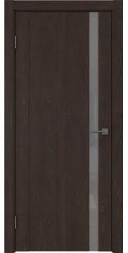 Межкомнатная дверь GM010 (экошпон «дуб шоколад» / лакобель серый) — 0659