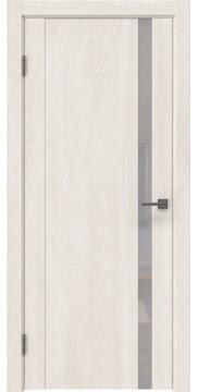 Межкомнатная дверь GM010 (экошпон «белый дуб» / лакобель белый) — 0649