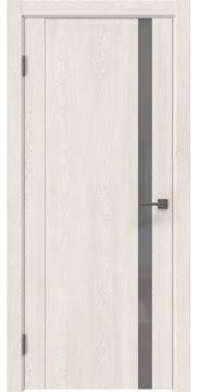 Межкомнатная дверь GM010 (экошпон «белый дуб» / лакобель серый) — 0651