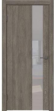 Межкомнатная дверь GM011 (экошпон «серый дуб» / лакобель белый) — 0669