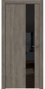 Межкомнатная дверь GM011 (экошпон «серый дуб» / лакобель черный) — 0672
