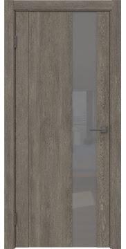 Межкомнатная дверь GM011 (экошпон «серый дуб» / лакобель серый) — 0671