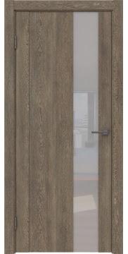 Межкомнатная дверь GM011 (экошпон «дуб антик» / лакобель белый) — 0661