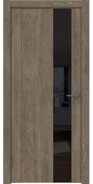 Межкомнатная дверь GM011 (экошпон «дуб антик» / лакобель черный) — 0664