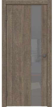 Межкомнатная дверь GM011 (экошпон «дуб антик» / лакобель серый) — 0663