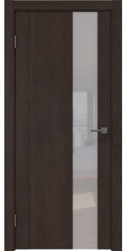 Межкомнатная дверь GM011 (экошпон «дуб шоколад» / лакобель белый) — 0673