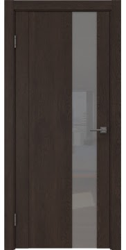 Межкомнатная дверь GM011 (экошпон «дуб шоколад» / лакобель серый) — 0675