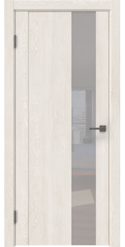 Межкомнатная дверь GM011 (экошпон «белый дуб» / лакобель белый) — 0665