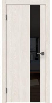 Межкомнатная дверь GM011 (экошпон «белый дуб» / лакобель черный) — 0668