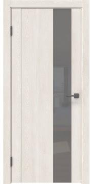 Межкомнатная дверь GM011 (экошпон «белый дуб» / лакобель серый) — 0667