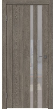 Межкомнатная дверь GM012 (экошпон «серый дуб» / лакобель белый) — 0685