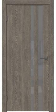 Межкомнатная дверь GM012 (экошпон «серый дуб» / лакобель серый) — 0687