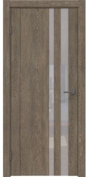 Межкомнатная дверь GM012 (экошпон «дуб антик» / лакобель белый) — 0677