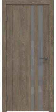 Межкомнатная дверь GM012 (экошпон «дуб антик» / лакобель серый) — 0679