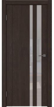 Межкомнатная дверь GM012 (экошпон «дуб шоколад» / лакобель белый) — 0689