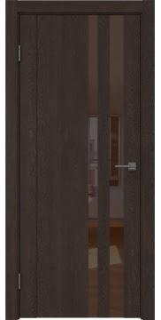 Межкомнатная дверь GM012 (экошпон «дуб шоколад» / лакобель коричневый) — 0690