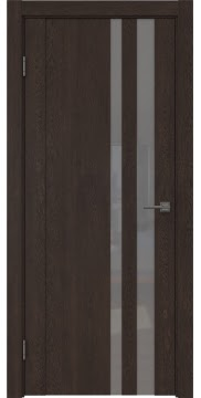 Межкомнатная дверь GM012 (экошпон «дуб шоколад» / лакобель серый) — 0691
