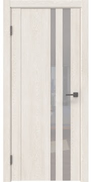 Межкомнатная дверь GM012 (экошпон «белый дуб» / лакобель белый)