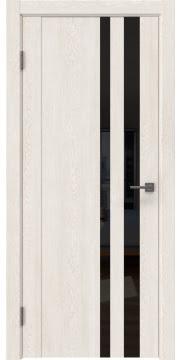 Межкомнатная дверь GM012 (экошпон «белый дуб» / лакобель черный) — 0684
