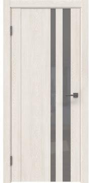 Межкомнатная дверь GM012 (экошпон «белый дуб» / лакобель серый) — 0683