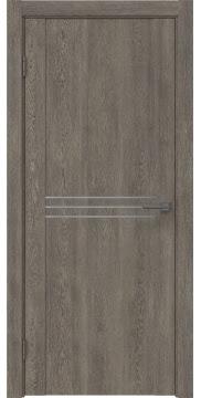 Межкомнатная дверь, GM013 (экошпон серый дуб, глухая)
