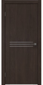 Межкомнатная дверь, GM013 (экошпон дуб шоколад, глухая)