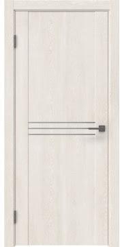 Межкомнатная дверь, GM013 (экошпон белый дуб, глухая)