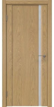 Межкомнатная дверь GM015 (натуральный шпон дуба / триплекс белый) — 5538