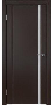Межкомнатная дверь, GM015 (шпон венге, триплекс белый)