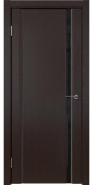 Межкомнатная дверь, GM015 (шпон венге, триплекс черный)