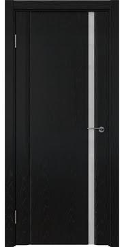 Межкомнатная дверь GM015 (шпон ясень черный / триплекс белый) — 5825