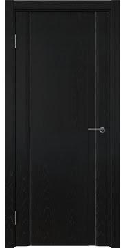 Межкомнатная дверь GM015 (шпон ясень черный / глухая) — 5824