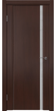 Межкомнатная дверь GM015 (шпон итальянский орех / триплекс белый) — 5822