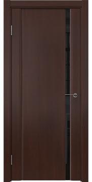 Межкомнатная дверь GM015 (шпон итальянский орех / триплекс черный) — 5823