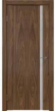 Межкомнатная дверь GM015 (шпон американский орех / триплекс белый) — 5819